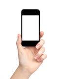 Kobiety ręka trzyma telefon zdjęcie stock
