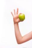 Kobiety ręka z jabłkiem Obrazy Stock