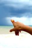 Kobiety ręka z pierścionkiem. Fotografia Royalty Free