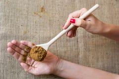 Kobiety ręka z pikantność Zdjęcie Stock