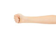 Kobiety ręka z zaciskał pięść Obraz Royalty Free