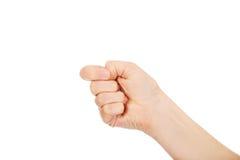 Kobiety ręka z zaciskał pięść Zdjęcie Stock