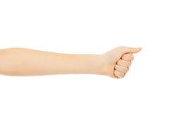 Kobiety ręka z zaciskał pięść Zdjęcie Royalty Free