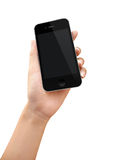 Kobiety ręki mienia telefon Zdjęcia Royalty Free