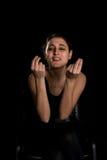 Kobiety radości gesty Fotografia Royalty Free