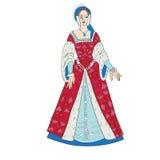Kobiety renaissance strój royalty ilustracja