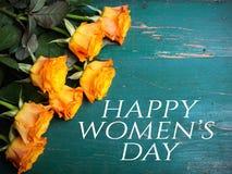 Kobiety ` s dnia karta Obraz Stock