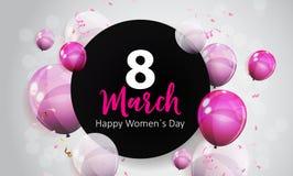 Kobiety ` s dnia kartka z pozdrowieniami 8 Marcowa Wektorowa ilustracja ilustracji