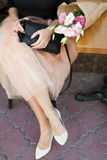 Kobiety ` s dnia kobieta z kwiatami Zdjęcie Stock
