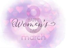 Kobiety ` s dnia tło z watercolour teksturą Fotografia Stock