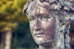 Kobiety ` s głowy rzeźba obraz royalty free