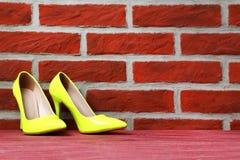 Kobiety ` s heeled buty Zdjęcie Stock