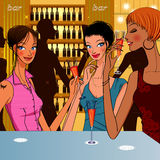 Kobiety ` s koktajlu bar Zdjęcie Stock