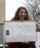 Kobiety ` s Marzec na Waszyngton obrazy royalty free