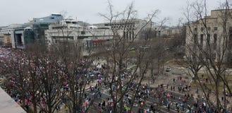 Kobiety ` s Marzec na Waszyngton Obraz Stock