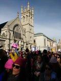 Kobiety ` s Marzec tłum, NYC, NY, usa Obrazy Royalty Free