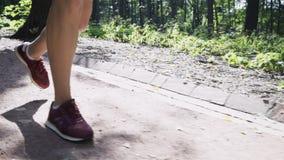 Kobiety s nóg jogging zjazdowy zbiory wideo