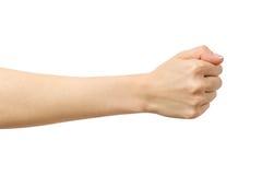 Kobiety ` s ręka z błędnym pięść gestem Zdjęcie Royalty Free