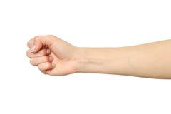 Kobiety ` s ręka z pięść gestem Zdjęcie Stock