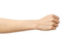 Kobiety ` s ręka z pięść gestem Obraz Stock