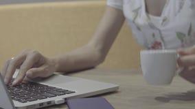 Kobiety ` s ręki pisać na maszynie na laptopie zbiory