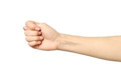 Kobiety ` s ręka robi figi Zdjęcia Royalty Free