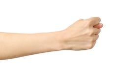 Kobiety ` s ręka robi figi Obraz Stock