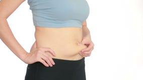 Kobiety sadła brzuch próżniowy masaż podbrzusze dziewczyna ciągnie żołądek zdjęcie wideo