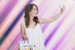 Kobiety selfie Obraz Stock