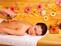 kobiety się masaż Zdjęcie Royalty Free