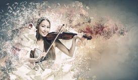 Kobiety skrzypaczka Obrazy Stock