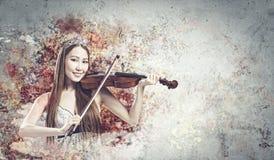 Kobiety skrzypaczka Fotografia Royalty Free