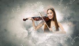 Kobiety skrzypaczka Zdjęcie Royalty Free