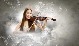 Kobiety skrzypaczka Zdjęcia Royalty Free