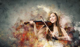 Kobiety skrzypaczka Obraz Royalty Free