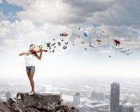 Kobiety skrzypaczka Fotografia Stock
