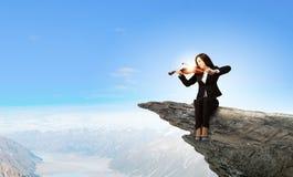 Kobiety skrzypaczka Obrazy Royalty Free