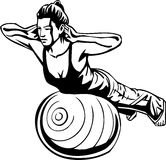 Kobiety sprawność fizyczna - wektorowa ilustracja. Obrazy Royalty Free