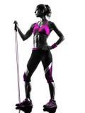 Kobiety sprawności fizycznej opór skrzyknie ćwiczenie sylwetkę Obrazy Stock