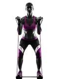 Kobiety sprawności fizycznej opór skrzyknie sylwetkę Obraz Royalty Free