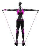 Kobiety sprawności fizycznej oporu zespołów ćwiczenia Obrazy Stock
