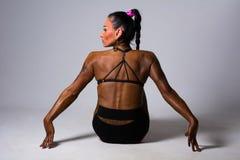 Kobiety sprawności fizycznej plecy obsiadanie Obrazy Stock