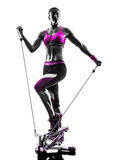 Kobiety sprawności fizycznej stepper sylwetka Zdjęcie Royalty Free