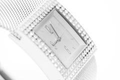 kobiety srebra zegarek Zdjęcia Royalty Free
