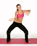 kobiety stanowi jogi Zdjęcie Royalty Free