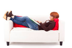 Kobiety studiowanie Zdjęcie Royalty Free