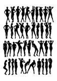 Kobiety sylwetka Zdjęcia Stock