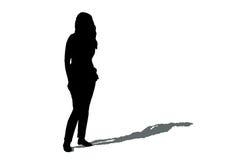 Kobiety sylwetka z cieniem Zdjęcie Stock