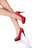 Kobiety szpilki nogi buty i Obrazy Stock
