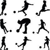 Kobiety sztuki piłka nożna Obrazy Royalty Free